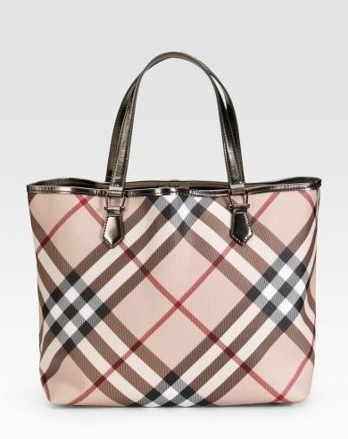 Burberry-check-tote