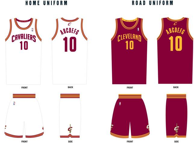 Cleveland Cavaliers new uniforms