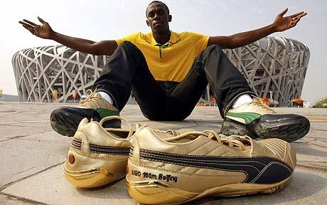 Usain Bolt with Puma shoes